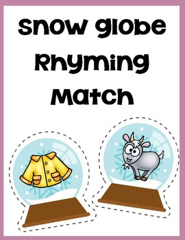 Rhyming Snow globe Match