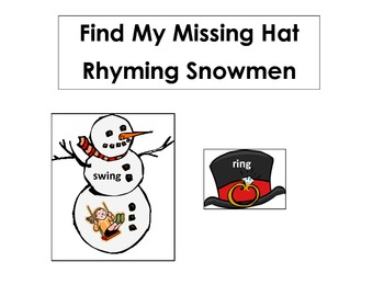 Rhyming Snowman with Missing Hat Common Core Standards
