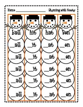 Rhyming Snowmen