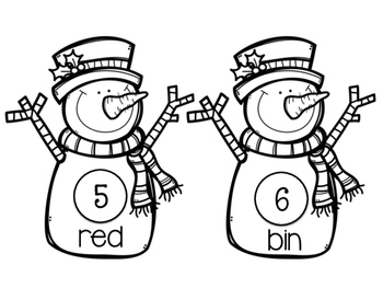 Rhyming Snowmen Write the Room