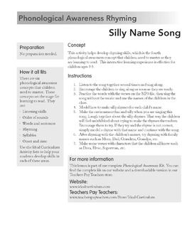 Rhyming Song -Silly Name Song