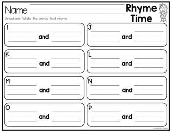 Rhyming Strips for Phonemic Awareness