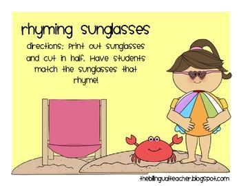 Rhyming Sunglasses
