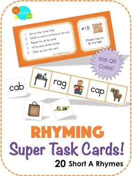 Rhyming Super Task Cards! - Short A