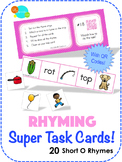 Rhyming Super Task Cards! - Short O
