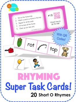 Rhyming Super Task Cards! - Short O