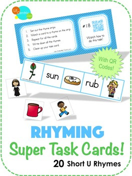 Rhyming Super Task Cards! - Short U