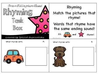 Rhyming Task Box