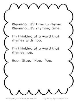 Rhyming Time Chant