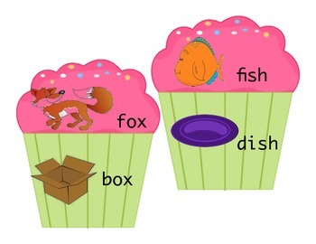 Rhyming Time Cupcakes, beginner rhyming word family match for Literacy Centres