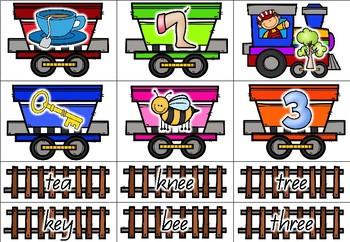 Rhyming Train - Rhyming Game