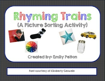Rhyming Trains! (w/ 30 Mats and 90 Environmental Photograph Pieces)