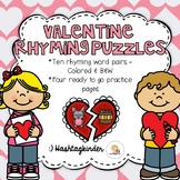 Valentine Rhyming Puzzles