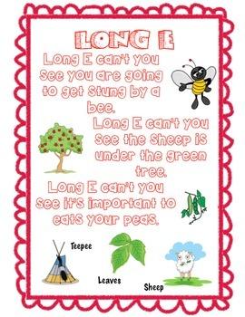 Rhyming Vowel Poem Posters
