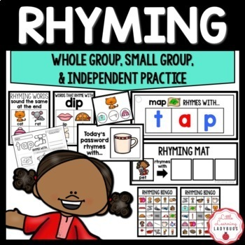 Rhyming {Whole Group, Small Group, & Independent Practice}