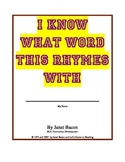 Rhyming With Phonograms-One Way to Sound Out Words