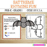 Rhyming Fun: Bat Theme