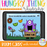 Rhyming With the Hungry Thing and  Boom Cards Distance Learning