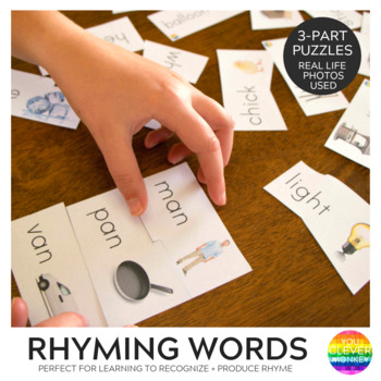 Rhyming Word 3 Part Puzzle Cards