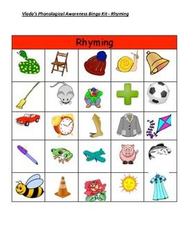 Rhyming Word Bingo