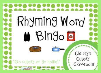 Rhyming Word Bingo Class Set