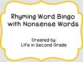 Rhyming Word Bingo with Nonsense Words