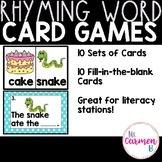 Rhyming Word Card Games