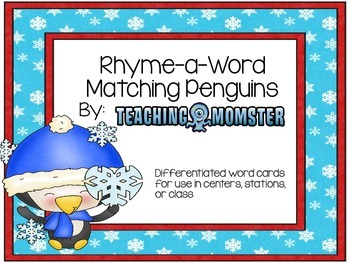 Rhyming Word Cards --Penguin Edition