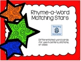 Rhyming Word Cards --Stars Edition