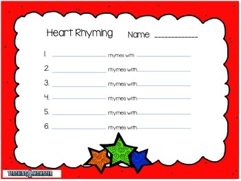 Rhyming Word Cards --Stars Edition