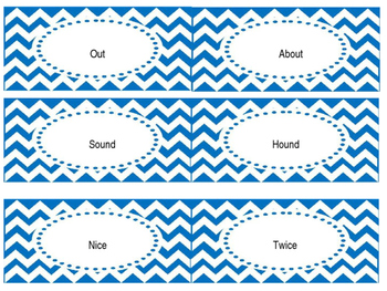Rhyming Word Cards for games/centers
