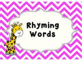 Rhyming Word Clip Cards