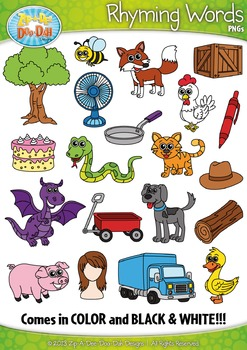 Rhyming Word Clipart Set — Includes 40 Graphics!
