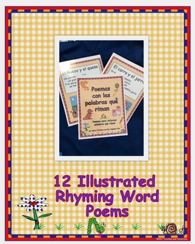 Spanish Rhyming Word Colored Poems