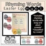 Rhyming Word Easter Egg Hunt *Long&Short Vowel Sounds, CVC