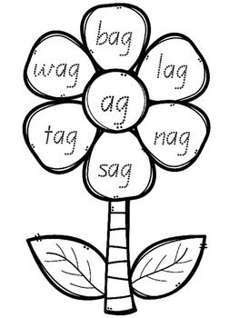 Rhyming Word Families - Short a