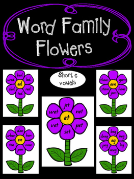 Rhyming Word Families - Short e