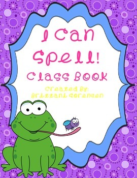 Rhyming, Word Families and Spelling Class Book