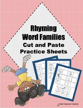 Rhyming Word Families Cut and Paste
