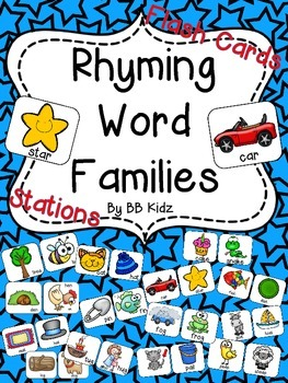 Rhyming / Word Families {Matching Rhymes or Word Families Station}