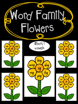 Rhyming Word Families- Short i