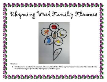 Rhyming Word Family Flower