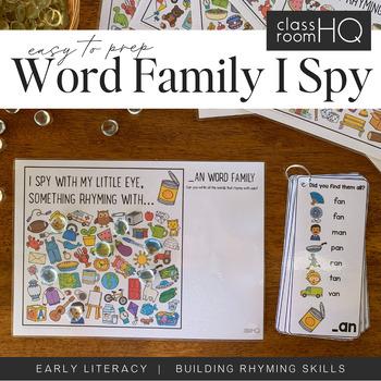 Rhyming Word Family I Spy Mats - AN/AP/AT Bundle
