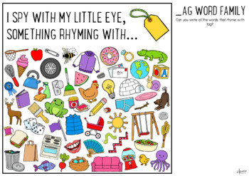 Rhyming Word Family I Spy Mats - COMPLETE BUNDLE