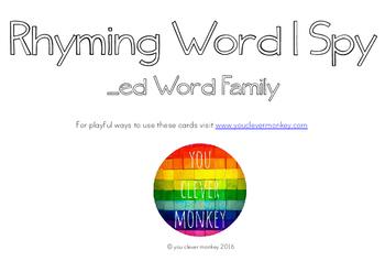 Rhyming Word Family I Spy Mats - ED words