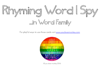 Rhyming Word Family I Spy Mats - IN words