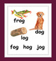 Rhyming Word Family Posters - 16 Word Families for grades k-1