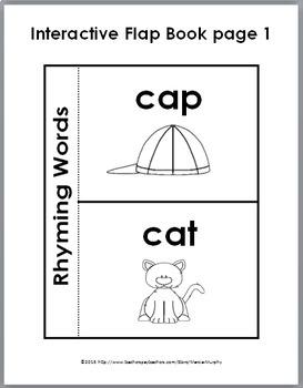 Rhyming Puzzles, Rhyming Worksheets, Flap Book, & Poster - Rhyming Activities