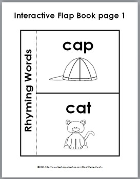 Rhyming Words Activities - Puzzles, Flap Book, Printables, & Poster