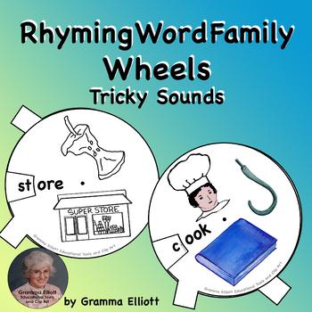 Tricky Words Rhyming Wheels